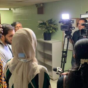 City of Cleveland Ohio Ward 7 Councilman Basheer Jones addressing Salaam Clinic Soft Opening