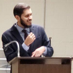 Dr Shoaib Shah addressing Salaam Clinic Grand Opening