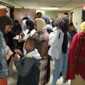 Ribbion Cutting Crowd at Salaam Clinic Grand Opening