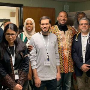 Salaam Clinic team and Councilman Jones and his team at the Salaam Clinic Soft Opening 10172019