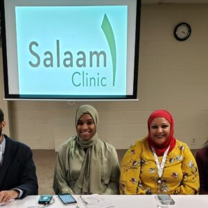Salaam ClinicTeam at Grand Opening from the left- Dr. Shah Ms. East Dr Malik and Dr. Magrey